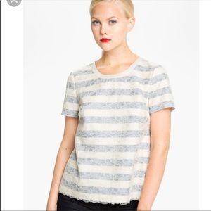 Marc Jacobs Women's Lace Stripe Blouse/Top